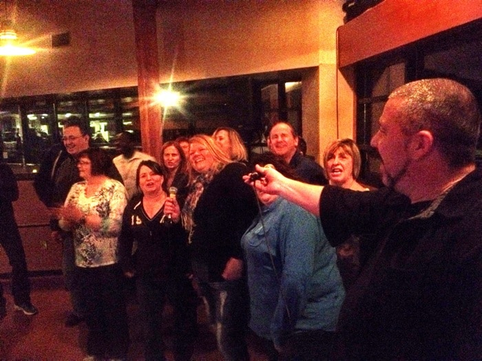 Karaoke on a cold night at UNIFOR